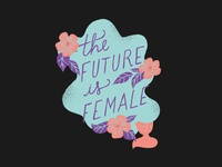T shirt illustration - The future is female