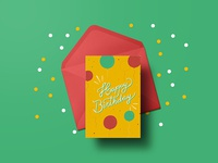 Lettering for a Happy Birthday card