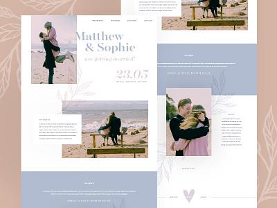 Wedding Splash Page leaves getting married splash page love couple wedding website