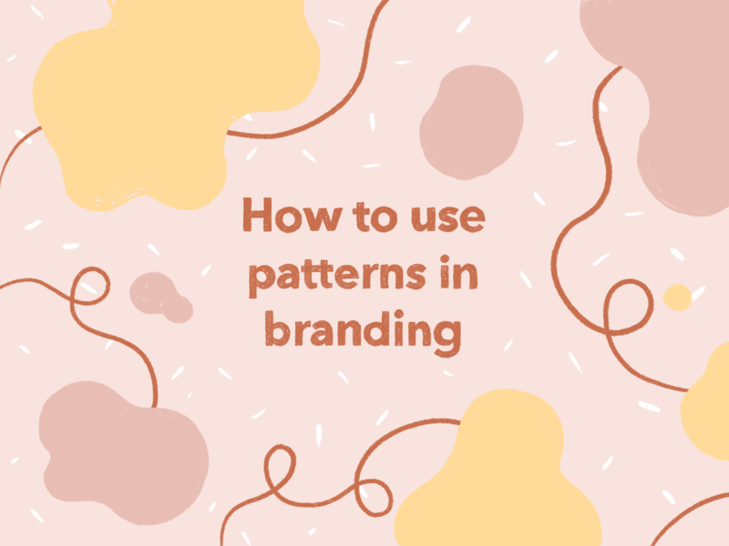 How To Use Patterns In Branding fun irregular shapes line abstract pattern tutorial blog