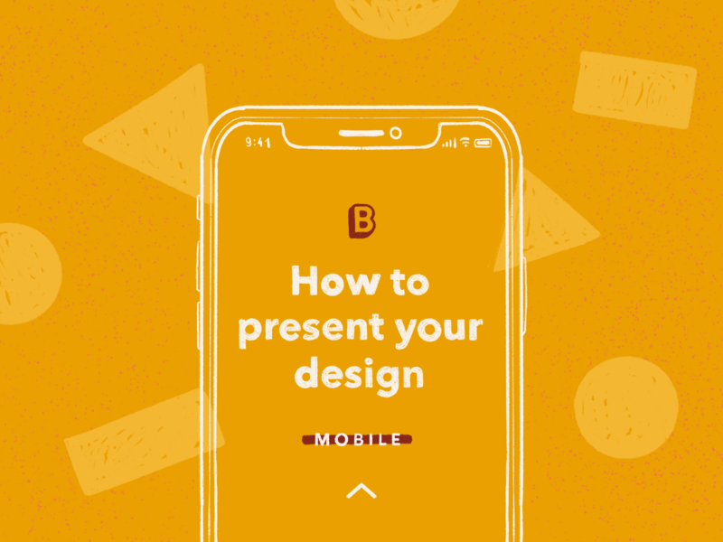 How To Present Your Design - Mobile lineart geometric iphone webdesign mobile illustration mockup tutorial
