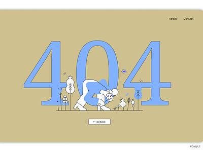 DailyUI008 uiux web uidesign ui design dailyui dailyuichallenge error 404 error page daily 100 challenge