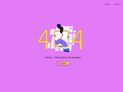 DailyUI008 uiux ui design error page error 404 error design dailyui dailyuichallenge daily 100 challenge