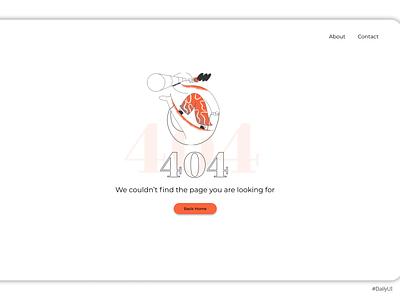 DailyUI008 error 404 ui design uidesign ui design dailyui dailyuichallenge daily 100 challenge