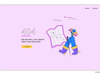 DailyUI008 error 404 ui uidesign design dailyuichallenge dailyui daily 100 challenge