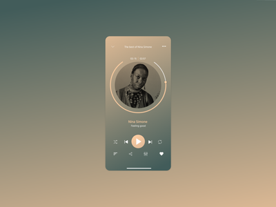 DailyUI009 ui design music player uidesign ui dailyui dailyuichallenge daily 100 challenge