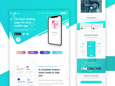 App Landing Page: Home page home page landingpage uidesign one page app landing page best app landing page create app landing page one page template app landing page app ui uiux web design mobile landing page ui app landing page ui design ui ui ux design landing page