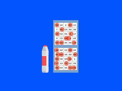 Curb Your Enthusiasm — Bingo Marker & Card style product illustration game bingo art print ui branding texture flat geometric nyc creative direction spot illustration icon-set icons larry david print curbyourenthusiasm design illustration