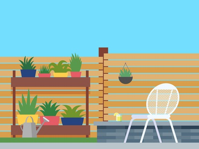 Backyard Patio Setting