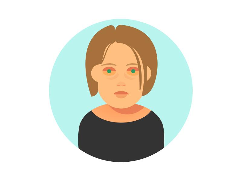 Kristen Stewart Avatar design illustration flat avatar geometric portrait sketch character design user icon panic room flat design character illustration