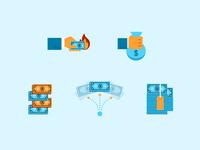 Money Spot Illustrations