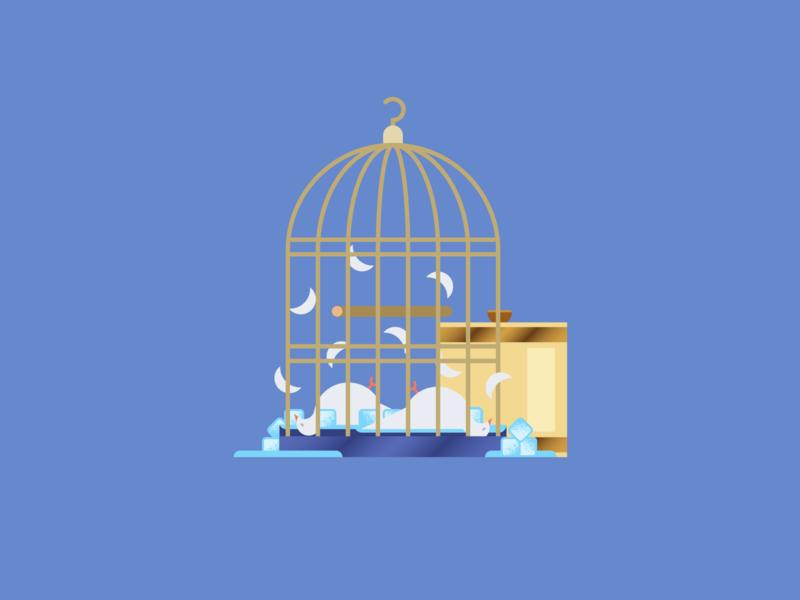 Seinfeld Icons — Murdered Doves nature animals water ice doves birds branding vector logo modern seinfeld style minimal art icons color geometric flat design illustration