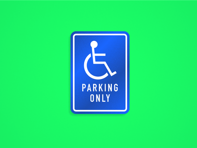 Seinfeld Icons — Jerry's Peephole handicapped parking signage typography branding creative direction art direction print vector modern texture style seinfeld minimal art icons color geometric flat design illustration