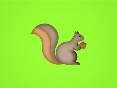 Seinfeld Icons — The Squirrel nature cute squirrel animal creative direction art direction print vector modern texture style seinfeld minimal art icons color geometric flat design illustration
