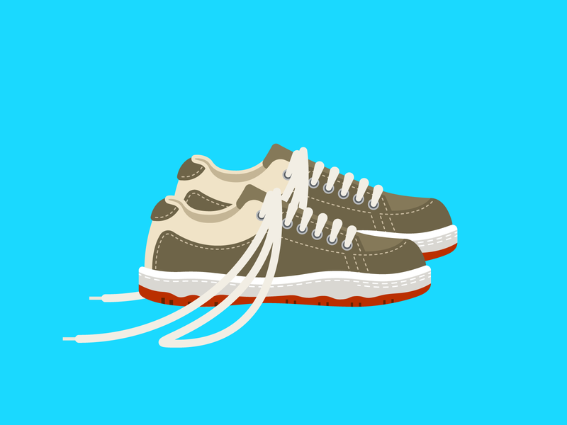 Curb Your Enthusiasm — Larry's Long Laces simple shoes creative direction icons shoelace clothing fashion fan art curb your enthusiasm larry david hypebeast sneakers shoes art prints spot illustration ui branding logo flat design illustration