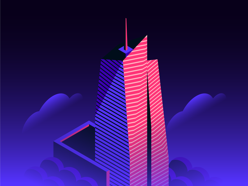 Bank of America Tower landmarks nyc isometric design isometric icons tower bank of america new york branding ui skyline skyscraper city architecture spot illustration icon isometric illustration isometric building isometric design illustration