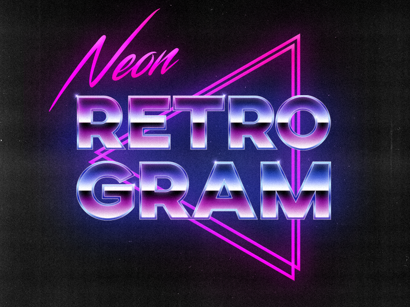 Neon Retrogram (80's Neon Style Logo) by Alfy J Harvey | Dribbble