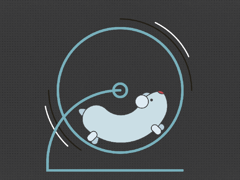 Hammy motion graphics illustration