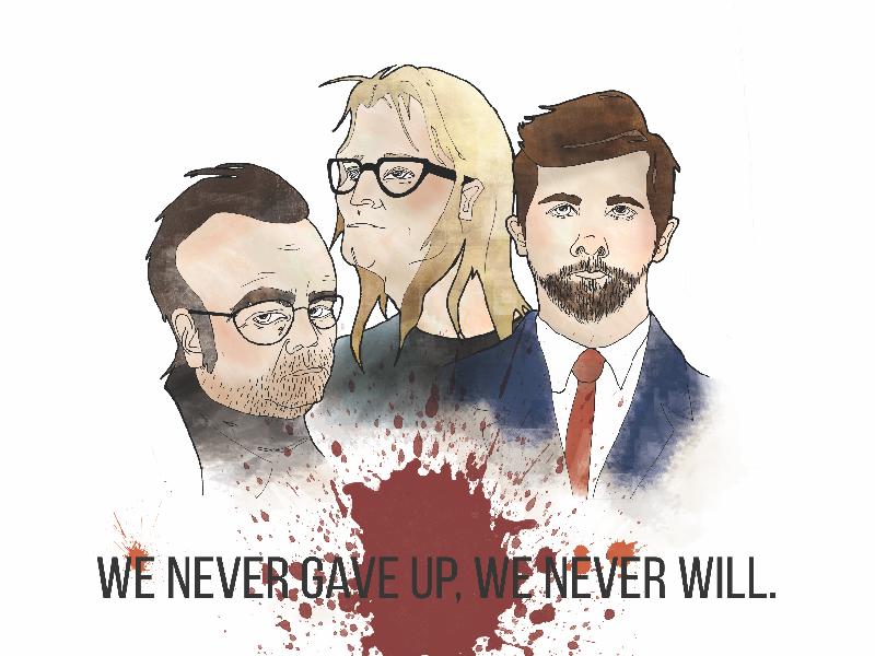The Lone Gunmen digital illustration illustration