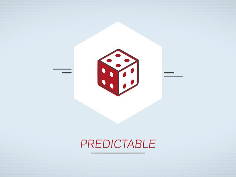 Predictable motion graphics illustration