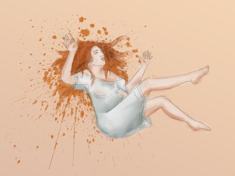 The Fall wacom photoshop digital illustration
