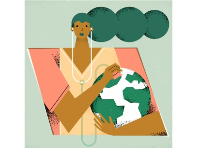 Earth day! texture vectors design sustainable love doctor world sustainability earthday earth illustrator magdaazab character illustration