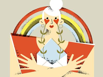 Los Angeles Times - affairs column - conceptual illustration editorial illustration love pride lgbt trans flowers editorial illustrator magdaazab character illustration ill
