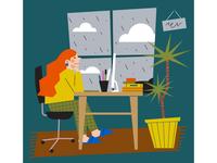 rainy days in the studio