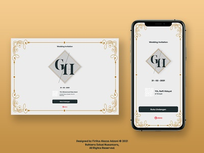 Mobile Application & Web - Wedding Invitation Cover Design mobile app design web design figma design ui design photoshop branding vector ui design