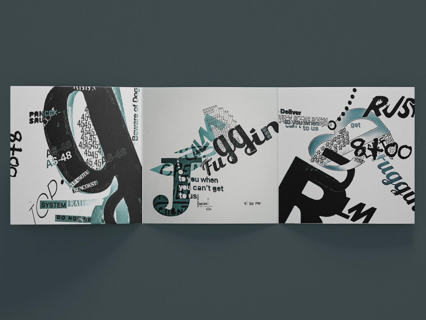 Typographic Collages typography art type