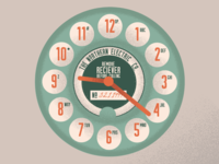 Rotary Phone Clockface Design