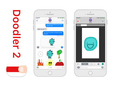 Doodler 2 messages stickers ios