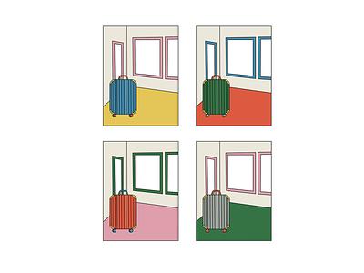 travels illustration art minimal color palette colorful design illustration