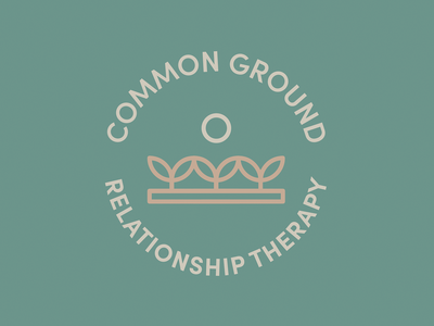 common ground relationship therapy branding design logo