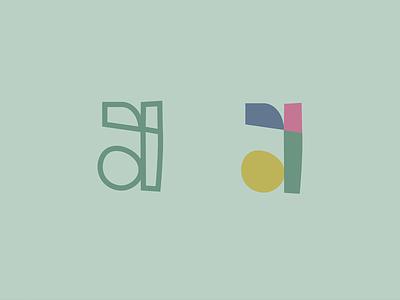 [a] logo mark cute illustration hand drawn color palette colorful bold color logo design branding