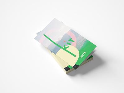 Kit in Crete Handouts pamflet bold color cute illustration logo branding minimal colorful color palette design