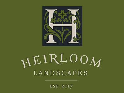 Heirloom Landscapes illustration logo