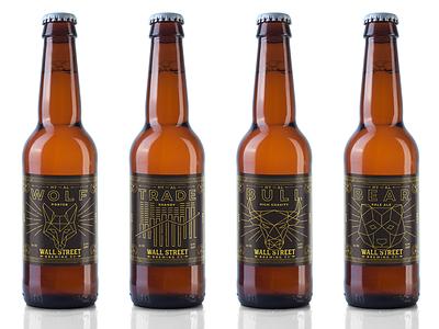 Wall Street Brewing label designs illustration label beer