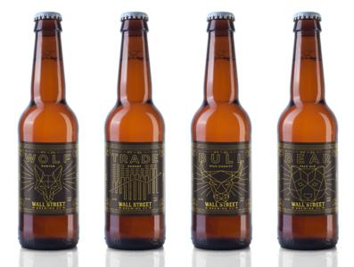 Wall Street Brewing label designs