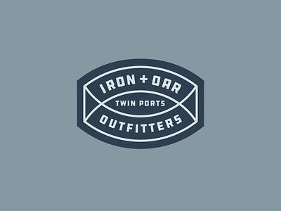 Iron + Oar oar lockup iron duluth brand badge canoe paddle boat identity mark logo