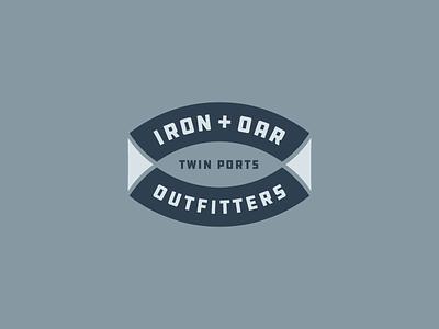 Iron + Oar Rebound paddle oar mark logo lockup iron identity duluth canoe brand boat badge