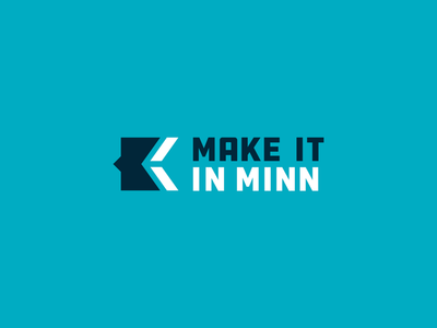 Make It In Minnesota economics chamber ecommerce growth economy design branding minnesota identity vector mark icon logo