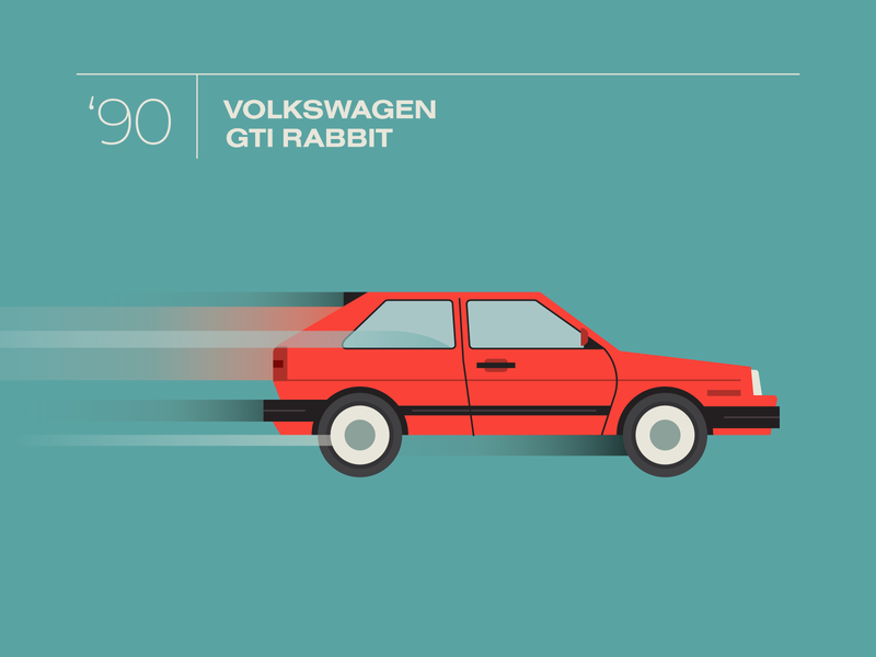 Rabbit speed icon illustration automotive automobile auto car