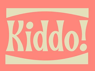 Kiddo bouncy bounce typedesign typeface fun child kiddo kid lettering letter typography type illustration vector