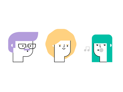 Character challenge illustration pastel minimal shapes lines portrait people human character