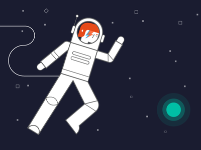 Ground Control to Major Tom tribute earth space oddity stars astronaut space fanart stardust bowie davidbowie