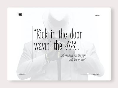 DailyUI 008 - 404 Page typography chris bliss 404page biggie daily challange ui web design uidesign daily ui dailyui 008 dailyui 404 adobe xd