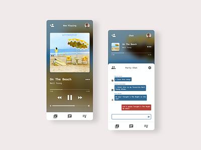 DailyUI 009 - Music Player mobile app design chris blss uidesign music player dailyuichallenge ux adobe xd ui dailyui