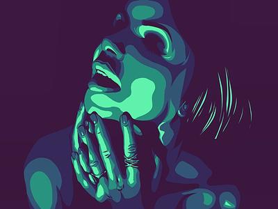 Prayers and triangles ipad pro adobe draw illustration portrait vector