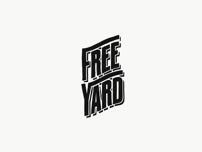 Freeyard lettering typography branding logo vector